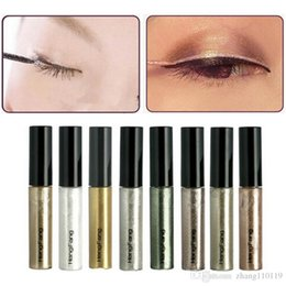 shimmer glitter colorful eyes shadow 2018 - 8 Colors lot Colorful Eye Liner Shadow Sticker Eyeshadow & Eyeliner Pen Shimmer Glitter Shining Cosmetics Makeup Colors