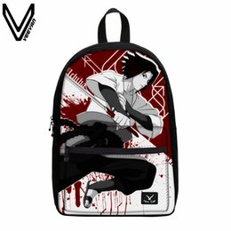 $enCountryForm.capitalKeyWord Canada - VEEVANV Anime Naruto Canvas Backpack Write Round Eyes Cartoon School Bag For Kids Uzumaki Naruto Uchiha Sasuke Hatake Kakashi