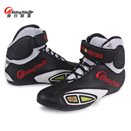 Motorcycle Racing boots Riding Tribe Microfiber Leather Breathable Locomotive shoes Street Moto Motorbike Summer Boots from woven leather sandals suppliers