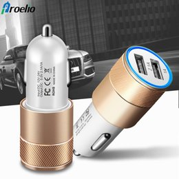 Wholesale Mini Dual Port USB Car Charger Adapter for Smart Mobile Cell Phone iPhone Samsung Android Phones Universal