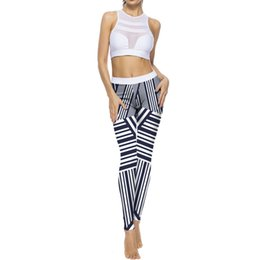 Digital Printing Yoga Pants NZ - Sexy Women Digital Printed Yoga Leggings High Elasticity Sports Gym Running Fitness Leggings Pants Athletic Yoga Trouser