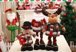$enCountryForm.capitalKeyWord NZ - Christmas Doll Santa Snowman Elk Reindeer Doll Table Decorations Can Be Sthreched Christmas Plush Toys Ornaments Decorations Soft Doll for K