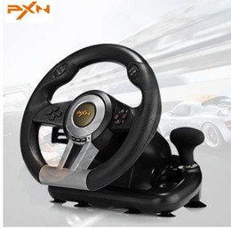 Race caR games online shopping - PXN V3II Racing Game Steering Wheel USB Game Controller Computer Car Driving Simulator for PC Wii Games Wheel for PS3 PS4 Xbox