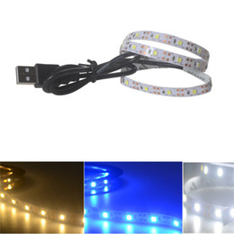 $enCountryForm.capitalKeyWord NZ - 5V 2835 30SMD 50CM LED Strip Light Bar TV Back Lighting White Warm white Blue Living Room Decoration USB LED Strip Lighting
