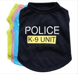 $enCountryForm.capitalKeyWord NZ - 200pcs Dog Apparel Fashion Cute Dog Vest Pet sweater Puppy Shirt Soft Coat Jacket Summer Dog Cat Clothes Police K-9 Unit G400