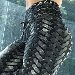 $enCountryForm.capitalKeyWord NZ - 2018 New 3D Weaving Printing Style Leggings Put Hip Fold Elastic High Waist Legging Breathable Slim Pants C18111301