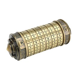 The Da Vinci Code Cryptex Alphabet Lock Wedding Ring Box - Valentine's Day Christmas Gifts Girlfriend Boyfriend Birthday Gift from electronic microphones manufacturers