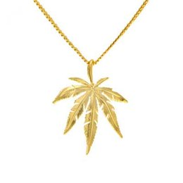 mens silver chain styles UK - Mens hip hop jewelry gold plated leaf shape pendants European and American style hiphop chain necklaces accessories