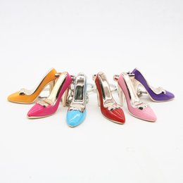 high heels wholesalers NZ - IN STOCK! 6 Different High Heels Keychain Women Bag Charms Keychain Purse Pendant Cars Holder Mini Shoe Key Ring Buckle Hanging