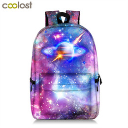 Wholesale Cool Universe Star Backpack Teenager Boys Girls Galaxy Planet School Bags Kids Laptop Backpacks Children School Backpack Bag