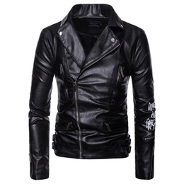 mens long leather motorcycle jacket NZ - Mens Leather Coat Autumn Winter Motorcycle Bikers Jacket For Mens Plus Size Male PU Leather Clothes Plus Siz Men Leather Overcoat J180747e