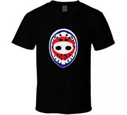 Máscara de goleiro de hóquei Ken Dryden Montreal Canadiens Retro dos homens dos anos 70 T-Shirt Preta T Camisas de Manga Curta de Lazer Moda verão em Promoção