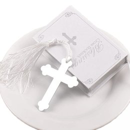 $enCountryForm.capitalKeyWord Australia - 100PCS Silver Cross Bookmark Wedding Favors Bridal boda Baby Shower First Communion Gifts Souvenirs Recuerdos Para Bautizo