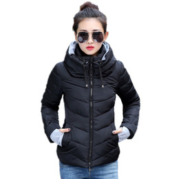 White Cotton Womens Parka Australia - Wholesale- FICUSRONG 2017 Causal Winter Jacket Women Parka Winter Outerwear Coat Short Slim Hooded Cotton-padded Womens Jackets And Coats