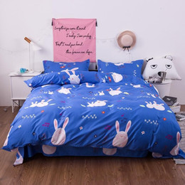 modern luxury beds 2019 - Aloe Cotton 4pcs Bedding Sets Thickening Luxury Duvet Covers Cartoon Quilt Cover High Grade Multi Size 38xb ff cheap mod