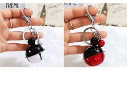 $enCountryForm.capitalKeyWord Australia - Korean Creative Metal Candy Color Bell Key Chain Handmade DIY Mobile Phone Case Accessories Lovers Bag Pendant