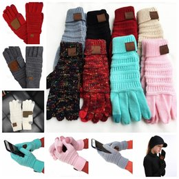 Knitted Gloves Touch Screen Glove Winter warm knitting Touch Screen Smart Cellphone Five Fingers Gloves 13colors GGA1301 on Sale