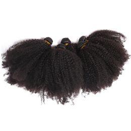 $enCountryForm.capitalKeyWord NZ - 4B 4C 100% Natural Human Hair Bundles Mongolian Afro Kinky Curly Hair Weave 1 Piece Virgin Mongolian Kinky Curly Hair Afro Extensions