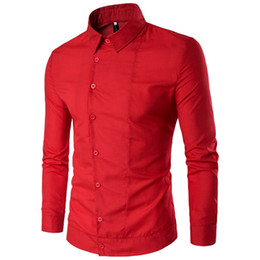 Hot Shirts Man NZ - Europe Style Mature Man Business Casual Shirts Hot Sale Brand Male Shirt Gentleman Dark Blue Dinner Blusa Novelty Button Tops