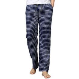 Sheer Sleepwear online shopping - Summer Cotton Sleep Bottoms Mens Pajama Simple Sleepwear Pants Pijamas for Male Sheer Mens Pants Pyjama Trousers Plus Size