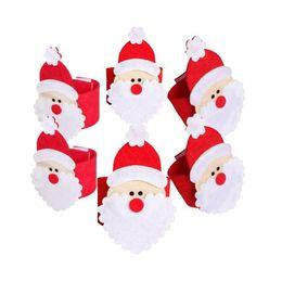 $enCountryForm.capitalKeyWord NZ - 4pcs set Christmas Non-woven Table Decoration 3D Santa Claus Napkin Rings Serviette Holder Table Serviette for Home Xmas Dinner