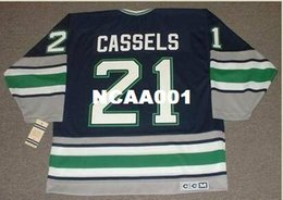 Men  21 ANDREW CASSELS Hartford Whalers 1995 CCM Vintage Retro Hockey Jersey  or custom any name or number retro Jersey fb5f38c26