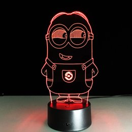 $enCountryForm.capitalKeyWord UK - Minions Novelty 3D Night Light LED Table Lamp Touch Desk Lighting Colorful For Child Baby Gift Birthday Party Bedroom Home Decor