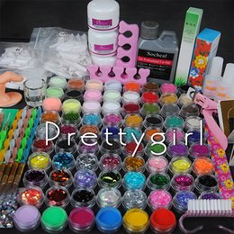 Glitter acrylics nails online shopping - Acryl Nails Acrylic Powder Set ml Acrylic Liquid Tips Glitter Deco d French Tips Rhinestone Nail Cutter Kit Manicure Set