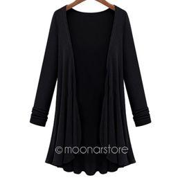 Shirt Poncho Australia - Fashion 2016 Women Hoodie Shirt Casual Crochet Poncho Plus Size Coat Women long Sweatshirt vestidos outerwear