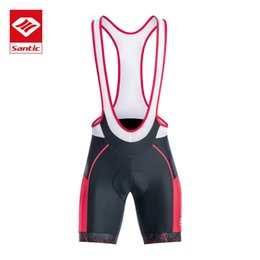coolmax cycling Australia - Santic Men Cycling Bib Shorts 4D Coolmax Padded Bicycle Bike Clothing ciclismo bicicleta M-3XL K7MC028