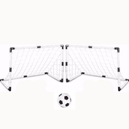 Chinese  2 Sets DIY Children Sports Soccer Goals with Soccer Ball and Pump Practice Scrimmage Game Football Gate DIY White manufacturers