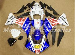 $enCountryForm.capitalKeyWord Australia - 3 free gifts Complete Fairings For Yamaha YZF 1000-YZF-R1-12-13-14 YZF-R1-2012-2013-2014 Motorcycle Full Fairing Kit Blue White s6