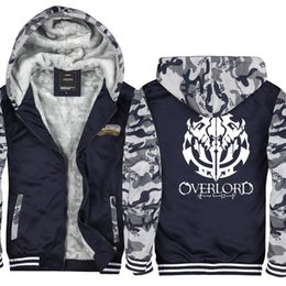 351585b127d Camouflage Anime Overlord Cashmere Hoodie Men and Women Winter Thicken  fleece Cotton Zipper Coat Jacket Super Warm Sweatshirt Asian Size