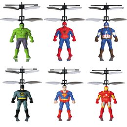 Mini Flying Hero Intelligent Sensor Control Children The Avengers Flying Helicopter Toy With Led Light J from ceramic glazing manufacturers