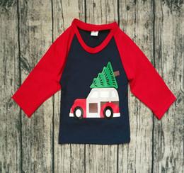 $enCountryForm.capitalKeyWord Australia - 9 design Boys Christmas Santa Full Sleeve O-neck T-shirts for 1-5T Boys Xmas suits Best gifts for Christmas