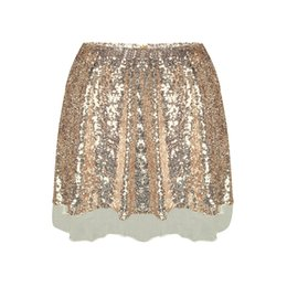 97e37b7c39 Mesh Patchwork Skirt Women Sexy High Waist Party Glitter Mini Skirt Bodycon Sequin  Skirt Back Zipper Women Ladies Beach Skirts