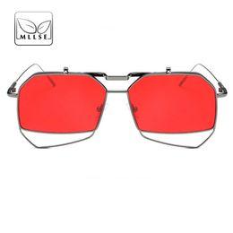 cd85d1056c4cc MLLSE Brand Neutral Sunglasses for Women Stylish Double Layer Frame Vintage  Elegant Personality The New UV400 Female Eye Wear