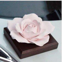 Car Styling Kreative Innenausstattung Dekor Handgefertigte Raffinierte Keramik Aromatherapie Auto Lufterfrischer Blume Ornamente Geschenk