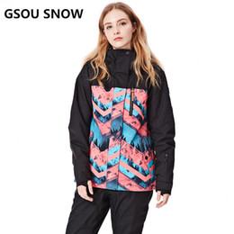 $enCountryForm.capitalKeyWord NZ - GSOU SNOW New Ski Jacket Women Anti-pilling Snowboard Coats Waterproof Fashion Windproof Female Ski Jackets Breathable Cotton