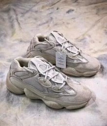 ef9d19cac47 New 2018ADIDAS Originals Boost Blush Desert Rat 500 2018YEEZY Kanye West  Running Shoes For Men Women Super Moon Yellow 3M Authentic Sneake