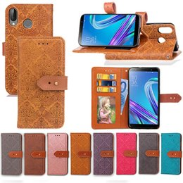 $enCountryForm.capitalKeyWord NZ - For Asus ZenFone Max M1 ZB555KL Case PU Leather Noble Euro Fresco Design with Wallet Card Holder Hand Strap
