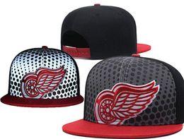 $enCountryForm.capitalKeyWord NZ - New Brand DETROID RED hat WINGS Cap Hip Hop strapback men women Baseball Caps Snapback Solid Cotton Bone European American Fashion hat
