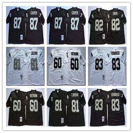 Best Quality 82 AI Davis 87 Dave Casper 60 Otis Sistrunk 83 Ted Hendricks  Regression Black White jerseys Mens Stitching jerseys 77daf93aa