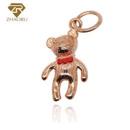 $enCountryForm.capitalKeyWord NZ - 925 Sterling Silver Pandora Charm with Little Bear Enamal Charm Fit Pandora Bracelet & Bangle And Necklace P2003