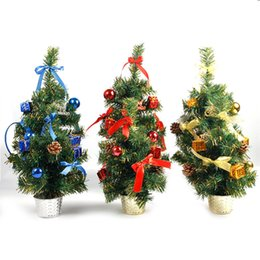 mini decorations UK - 2018 Christmas Tree Decoration Holiday Home Mini Artificial Trees Christmas Decorations For Home Xmas Gift