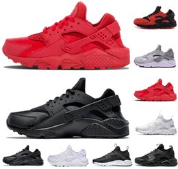 China Hot sale Huarache mens women Running Shoes 1.0 4.0 triple black white all red gray gold trainers men designer shoes sneakers US 5.5-11 cheap white black gray huarache shoes suppliers