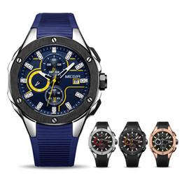 Großhandel Männer Sportuhr MEGIR Chronograph Silikonarmband Quarz Army Military Uhren Uhr Männer Top Marke Männlichen Wasserdichte Armbanduhren