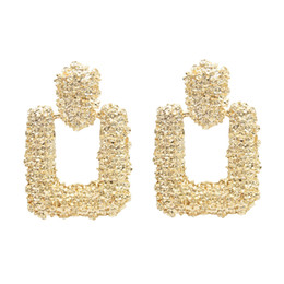 China 5 Colors Simple Generous Concave Surface Alloy Ladies Earrings for Women Bohemian Party Jewelry Accessories Gift supplier simple accessories suppliers