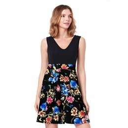 613cc6f7115 Girls Maxi Skirts Dresses NZ - Women s Skirt Dresses Women s V-neck  Patchwork Dresses Tank