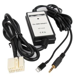 Venta al por mayor de Interfaz auxiliar del jugador del cable del adaptador del coche de 3.5mm con la caja del disco de Digitaces audio del USB del iPhone para la odisea cívica de Honda Accord